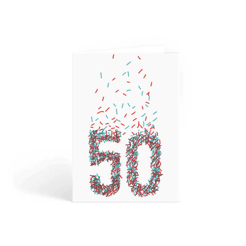 50th Birthday Cards Personalised Cards Papier