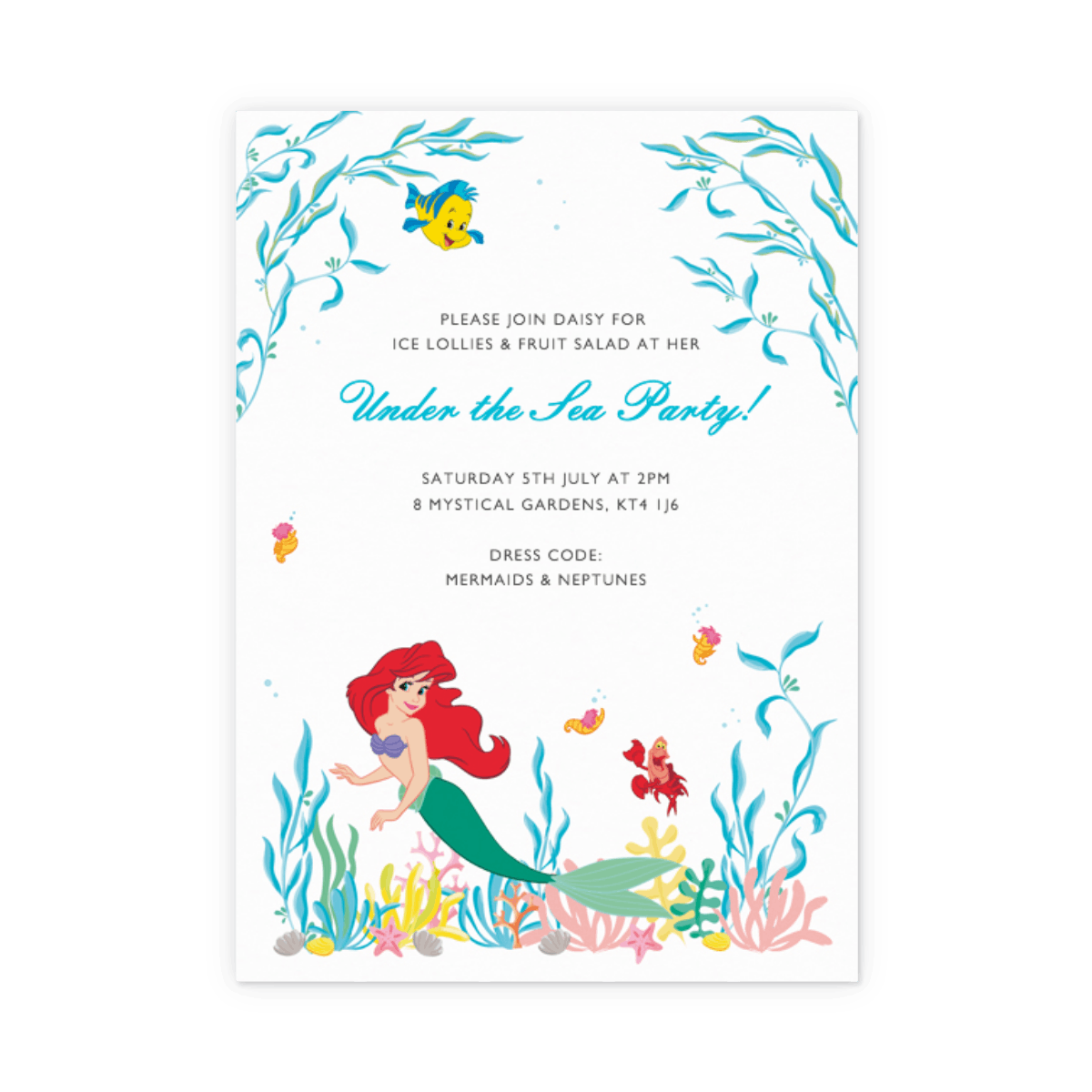 Under The Sea | Party Invitation | Papier