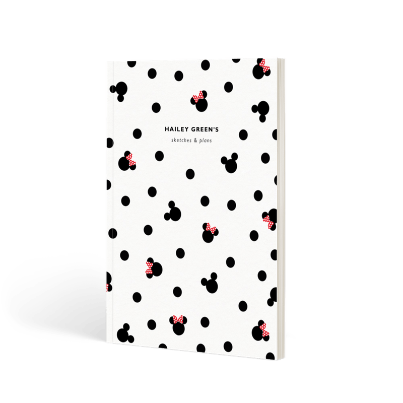 Mickey & Minnie Mouse | Softback Lined Notebook | Papier