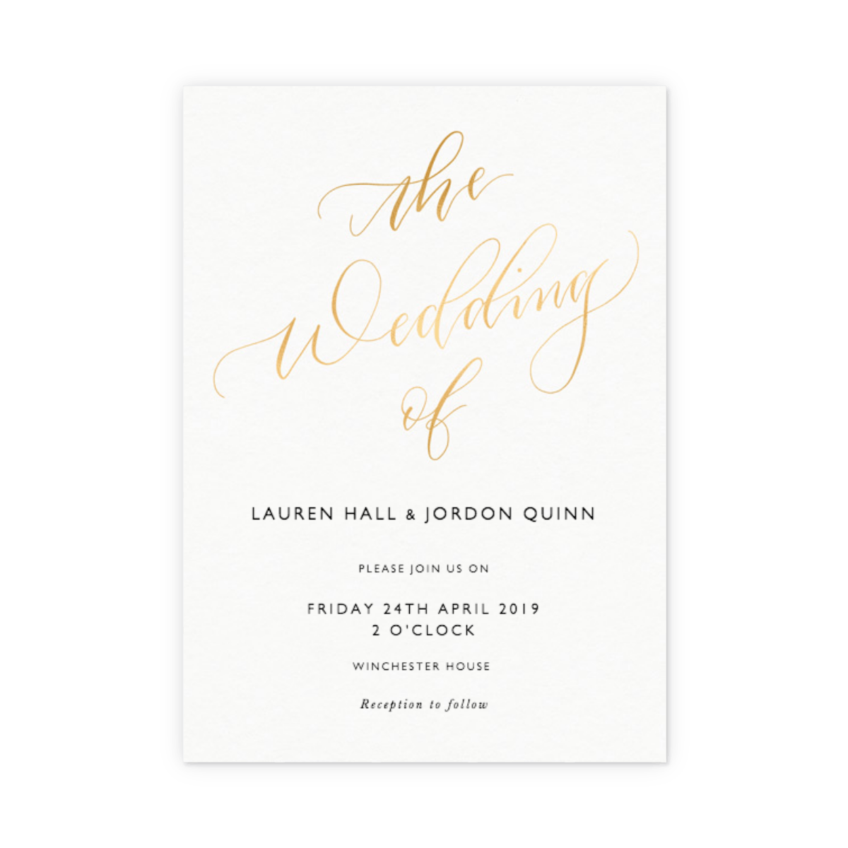 Wedding Invition Cards.The Wedding Of Calligraphy