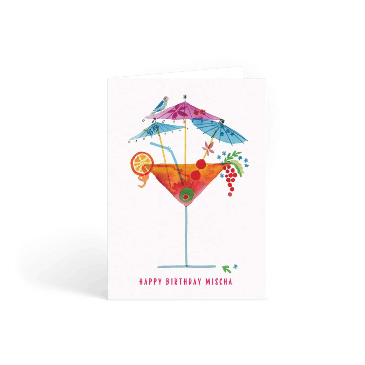 Cocktail Cocktail Birthday Card Papier