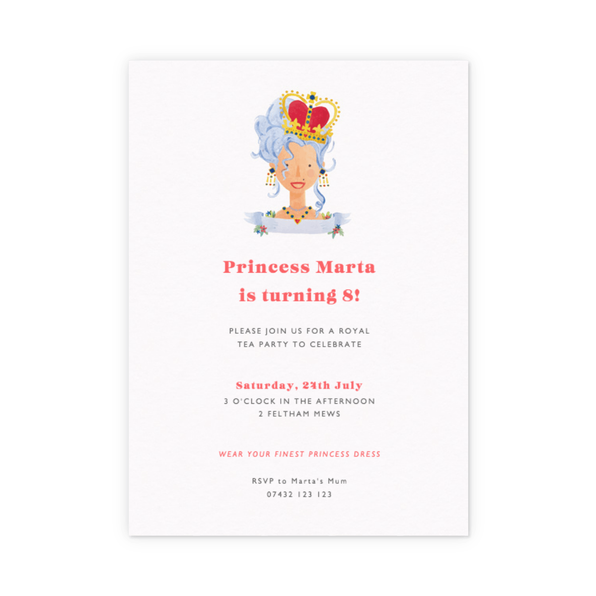 Birthday Queen | Party Invitation | Papier