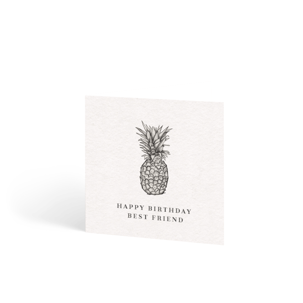 the pineapple  birthday card  papier