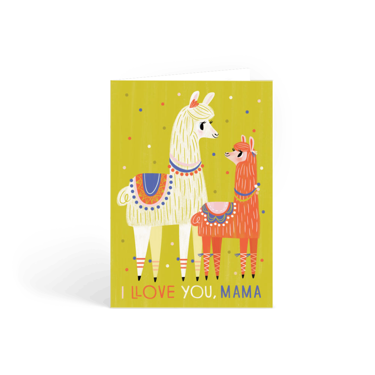 mama llama  birthday card  papier
