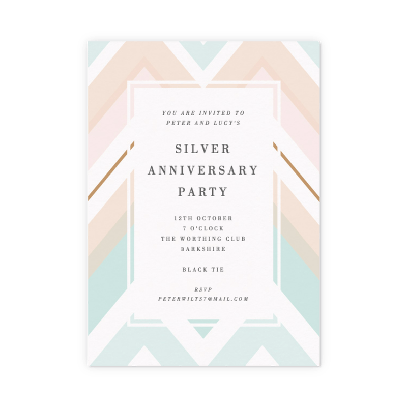 Customisable Anniversary Party Invitations | Papier