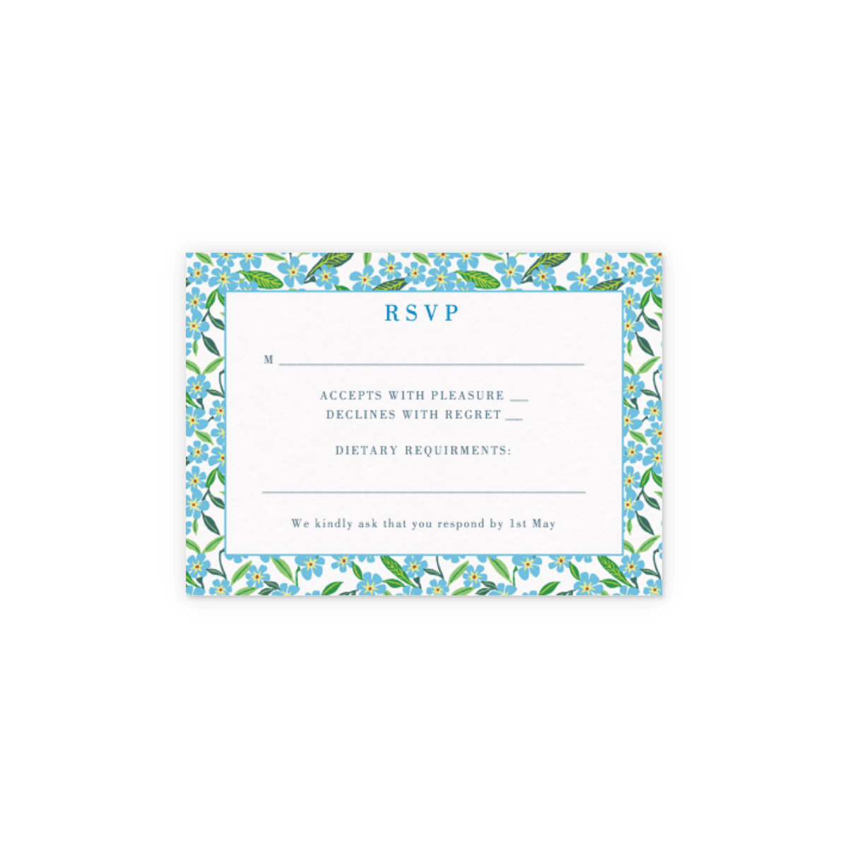 Forget-Me-Not | Wedding Invitation | Papier