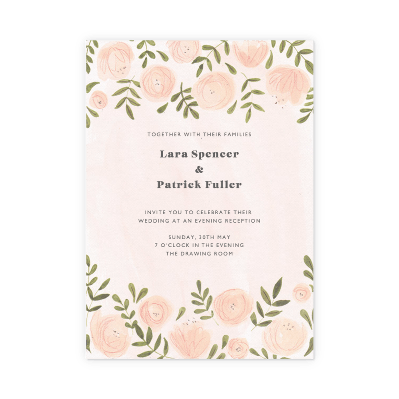 Customisable Wedding Evening Invitations   Papier