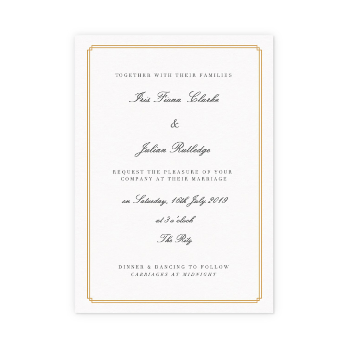 Double Frame | Wedding Invitation | Papier