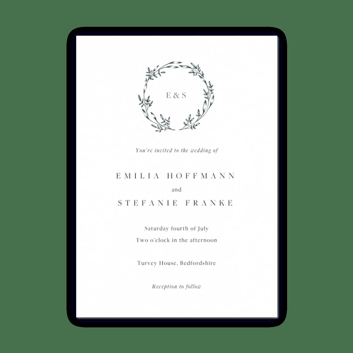 Wedding Invitations Rsvp Info Card Sets Papier