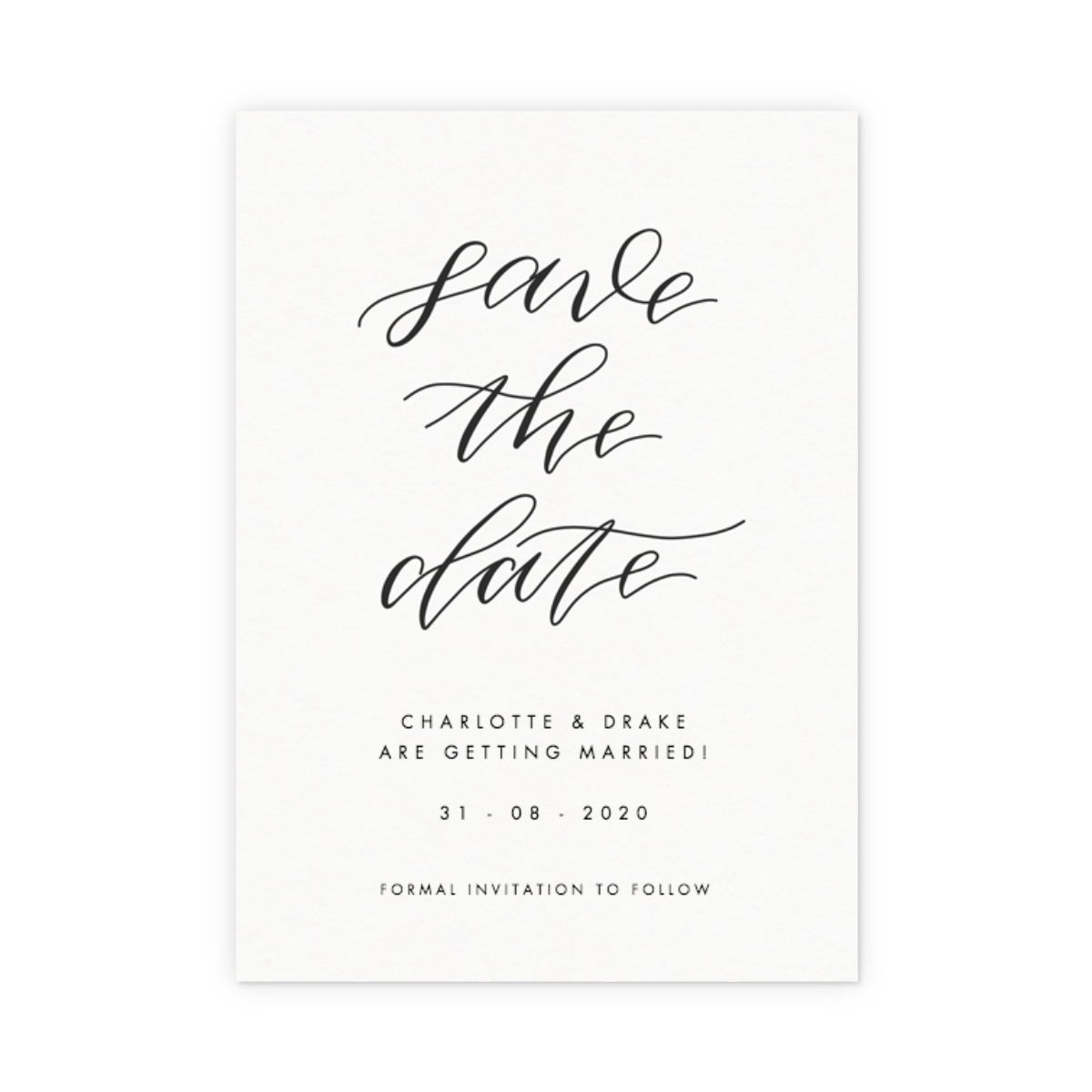 Save The Date Karte.Save The Date Calligraphie