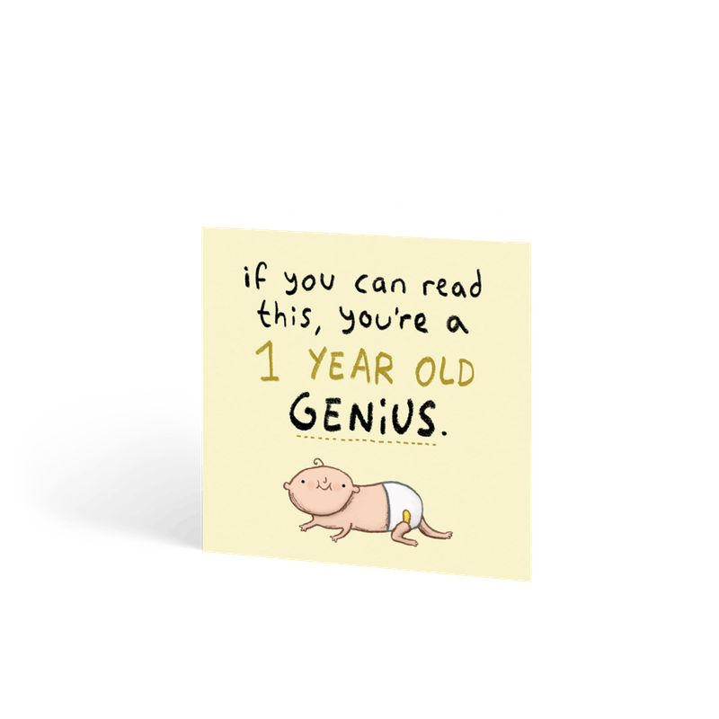 One Year Old Genius