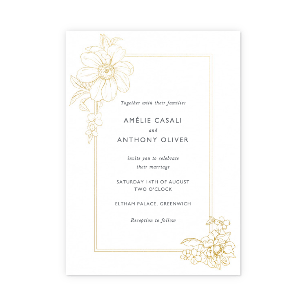 Wedding Invite Borders: RSVP & Info Card Sets