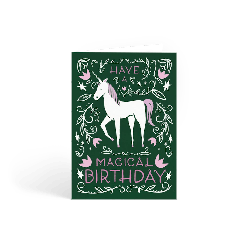 magical birthday - Personalised Birthday Cards