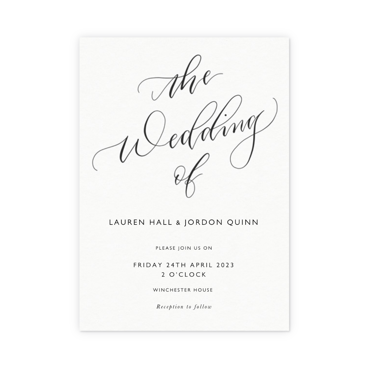 The Wedding Of Calligraphy Https 3a 2f 2fwww Papier 2fproduct Image 2f8874