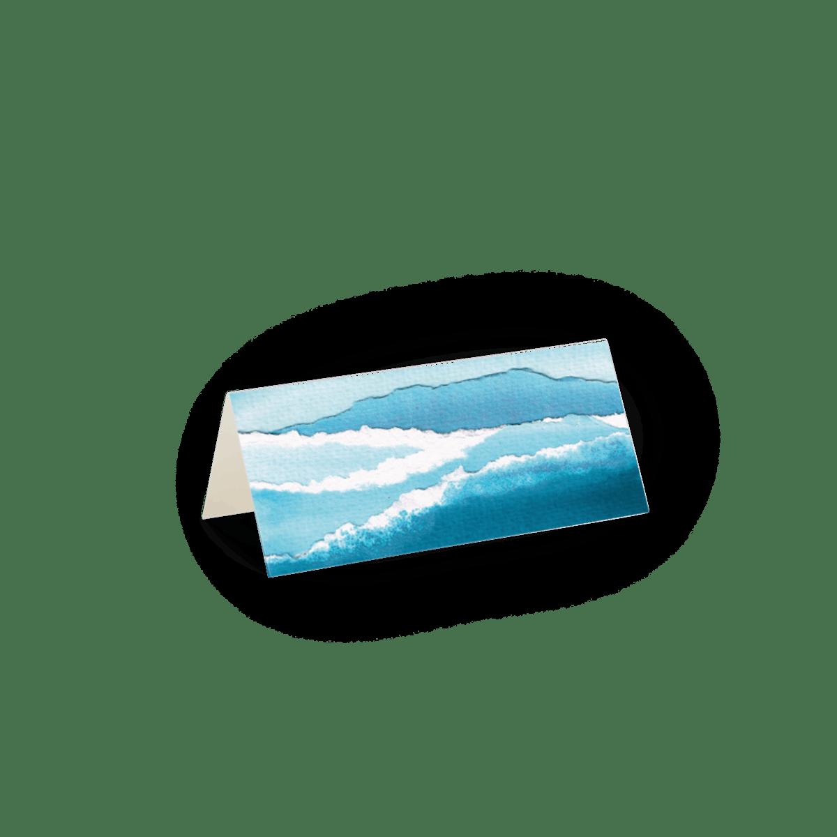 Nautische Wellen   Platzkarten   Papier